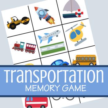 Transportation Memory Game