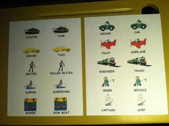 Transportation Memory Matching Card Game