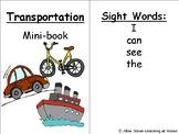Transportation Mini Book- Repetitive Text