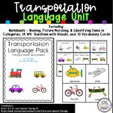 Transportation Mini Language Unit - No Prep & Minimal Prep