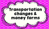 Transportation & Money tags