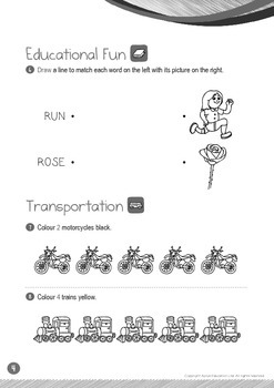 Transportation - Motorcycle, Train (I): Letter R - K1 (3 years old)