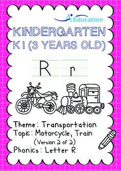 Transportation - Motorcycle, Train (II): Letter R - K1 (3