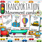 Transportation Movement Cards (Transition Activity or Brain Breaks)