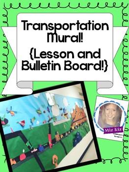 Transportation Mural! {Brainstorm and Sort Vehicles!}