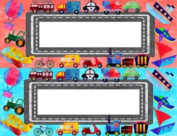 Transportation Name Tags/Labels