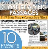 Transportation Close Reading