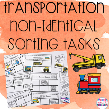 Transportation Non-Identical Sorting Activities