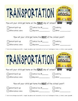 Transportation Note