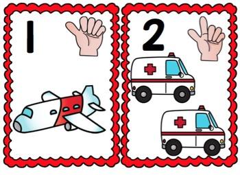 Transportation Number Cards
