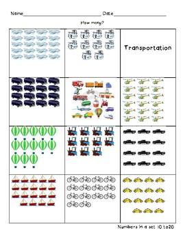 Transportation Number Quantity 10-20