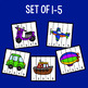 Transportation Number Sequencing Puzzles - Set of 15