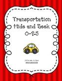 Transportation Numbers Hide & Seek 0-25