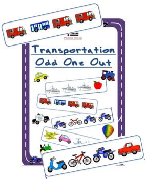 Transportation Odd One Out | Worksheet