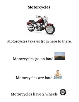 Transportation Informational Texts (Adapted with Visuals)