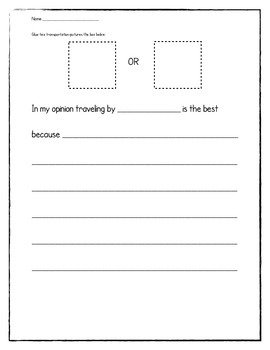 Transportation Opinion Writing Activity