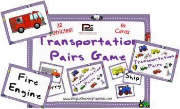 Transportation Pairs Game