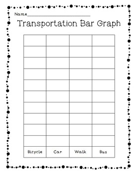 """Back to School Paper Chain Graph """"How do you get to school?"""" Class Activity"""