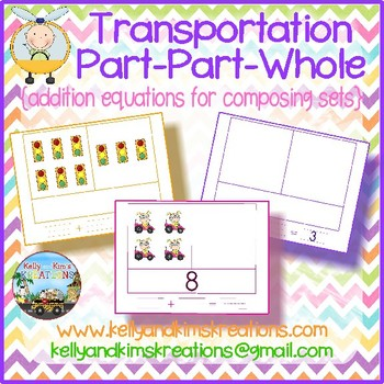 Transportation Part-Part-Whole {addition equations for composing sets}