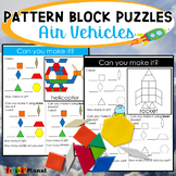 Transportation Pattern Block Mat Puzzles Air Vehicles