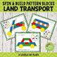 Transportation Pattern Blocks Spin and Build BUNDLE