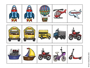 Transportation Pattern Cards