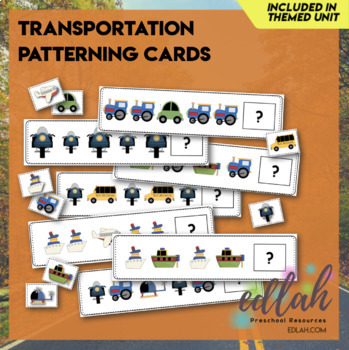 Transportation Patterning Cards