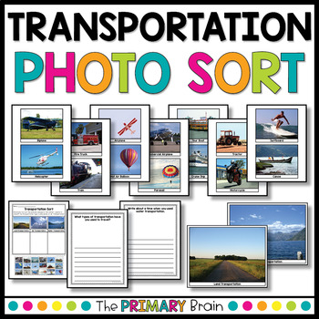 Transportation Photo Sort with Writing Extension Pages