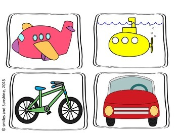 Transportation Picture Sort