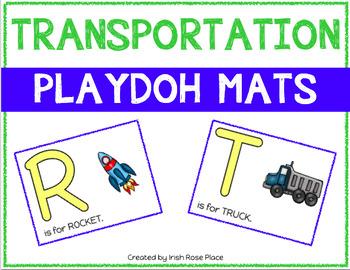 Transportation Playdoh Mats