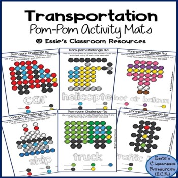 Transportation Pom-Pom Activity Mats