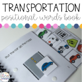 Transportation Positional Words Book