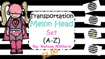 Transportation Posters (Melon Head Kids Set) $1.00 How I arrive to School