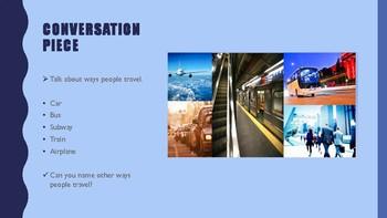 The Blue Cloud Bubble ESL Power Point Lesson-Transportation