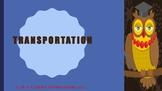 The Blue Cloud Bubble ESL PDF/PowerPoint Lesson-Transportation