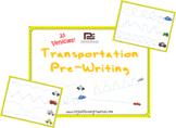 Transportation Pre-Writing | Worksheets