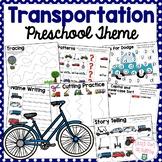 Transportation Preschool Early Learning Themed Pack