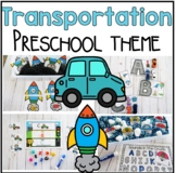 Transportation Math and Literacy Centers for Preschool, PreK, and Kinder