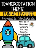 Transportation Printable Activities and Worksheets