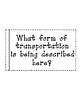 Transportation Printable Riddle Activity