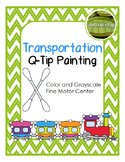 Transportation Q-tip Painting