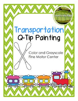 Transportation Q-tip Painting