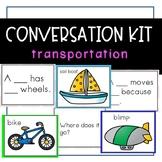 Conversation Kit: Transportation {ESL} (Kindergarten Wonders Unit 8 Week 1)