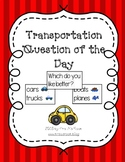 Transportation Question of the Day