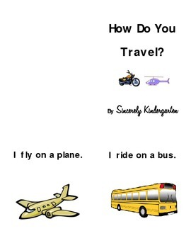 Transportation Reading and Writing Activities