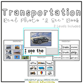 "Transportation Real Photo ""I See"" Book for Special Education Classrooms"