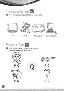 Transportation - Run, Minibus (II): Letter Q - K1 (3 years old), Kindergarten