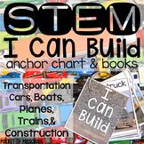 STEM I Can Build - Transportation Edition: Cars Trucks Planes Construction, Boat