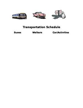 Transportation Schedule