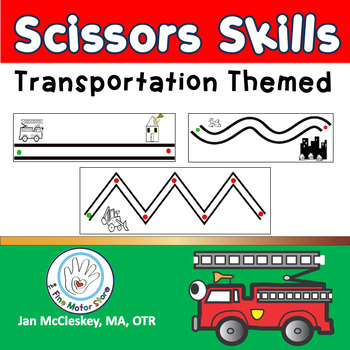 Fine Motor Transportation Scissors Skills  Cutting Activities for Centers